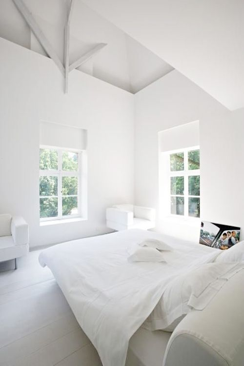 Serene white on white. Like the window placement and shape.