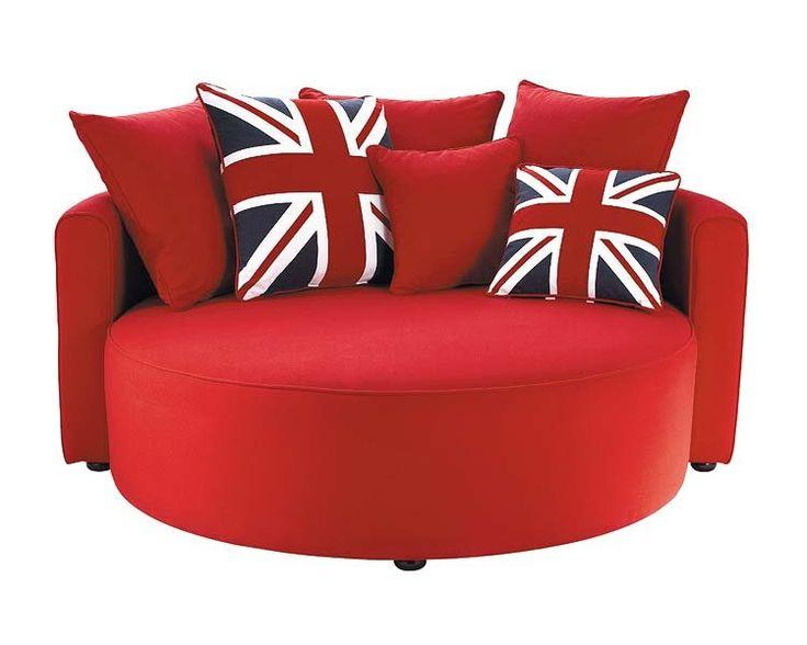 Un divertido sofá redondo
