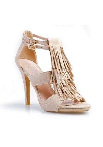 Páskové boty se střapci, na podpatku #modino_cz #modino_style #highheels #podpatek #střapce #sandálky #sandals xstyle #fashion #chic #ModinoCZ