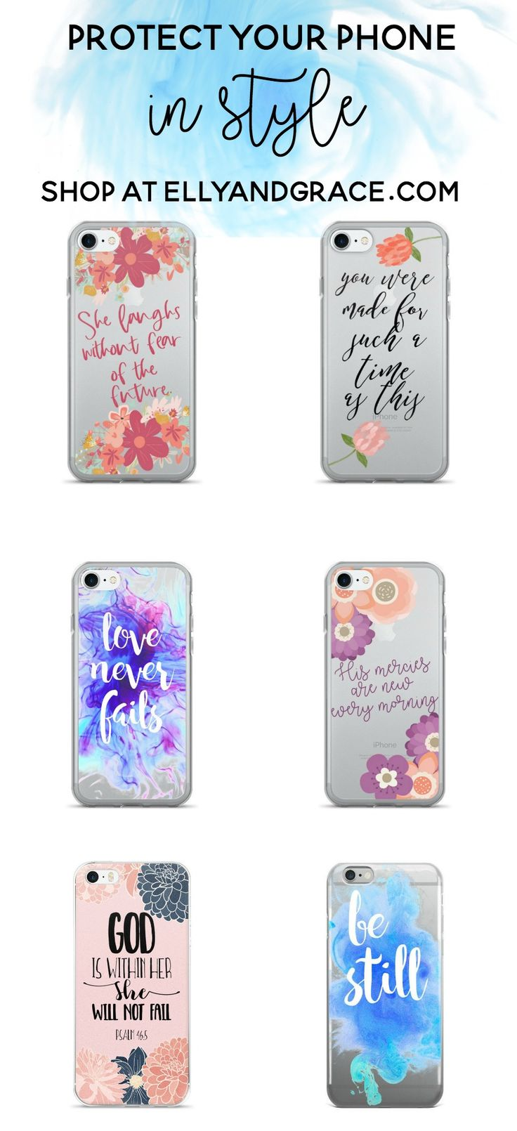 Trendy christian phone cases. Christian iPhone cases for women. Available in iPhone 5, 6, and 7.