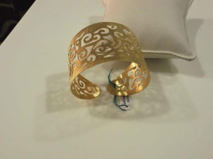 bracciale donna in argento 925/1000 dorato satinato modello schiava