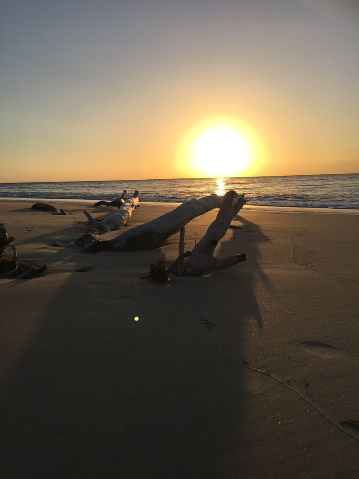Sunset on Toompany beach Stradbroke Island