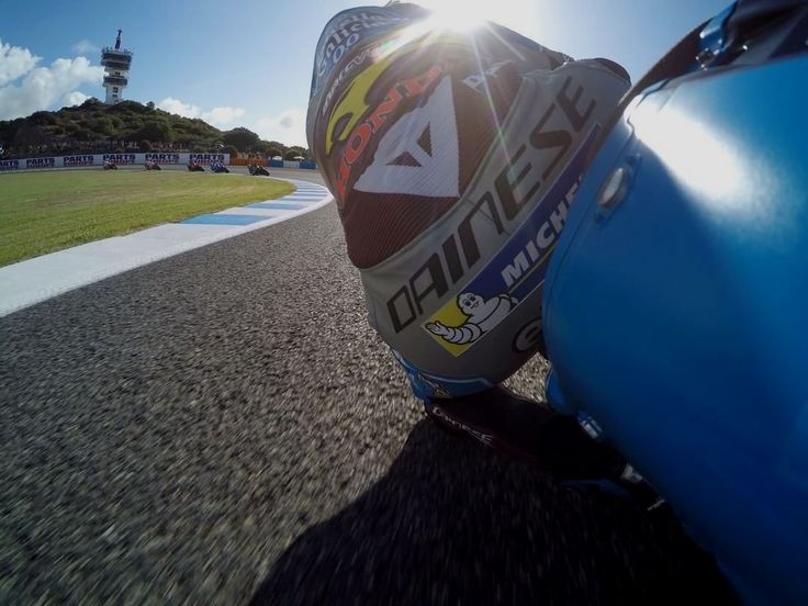 Knee down for dayz 🙌 // @GoPro @jackmilleraus #SpanishGP #MotoGP Repost by @motogp
