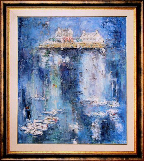 Painting Concarneau - Port In Little Brittany