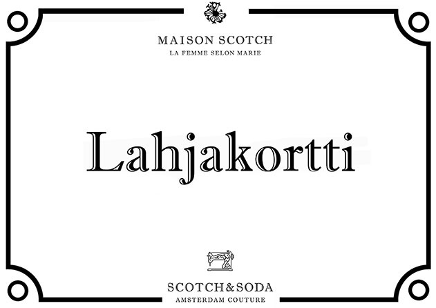 Lahjakortti Scotch & Soda. - Maison Scotch
