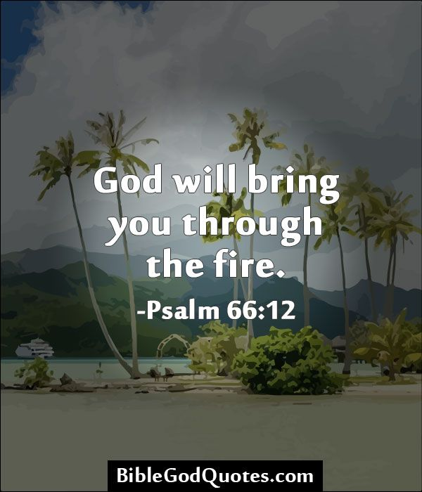 God will bring you through the fire. -Psalm 66:12  http://biblegodquotes.com/god-will-bring-you-through-the-fire/