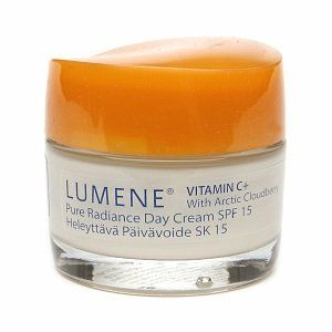 Lumene Finland Vitamin C+ Pure Radiance Day Cream Spf 15 by Lumene. $12.74. SPF 15 for all skin types. Lumene Vitamin C Plus Pure Radiance Day Cream with SPF 15 1.7 fl oz. Broad spectrum UV protection and antioxidant power for all skin types. Nourish and protect skin of all types with Vitamin C Plus Protecting Day Cream with SPF 15 from Lumene. The dual-action formula defends your skin from environmental assaults by neutralizing free radicals with the antioxida...