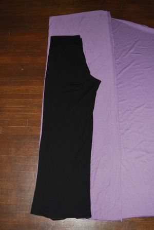 Make a pair of yoga pants from favorite ones that you already own.