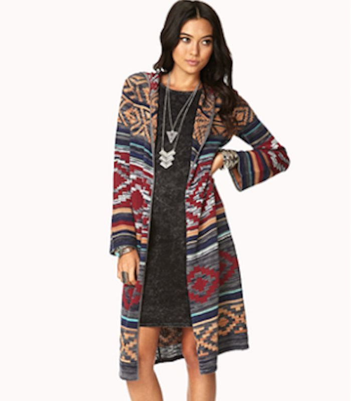 Rustic Long Maxi Duster Sweater Cardigan Hooded Slouchy Vintage Women Small #UrbanPeopleClothing #Cardigan