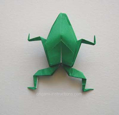 Today is Leap Day, what better way than to pin instructions to make an origami frog. :)