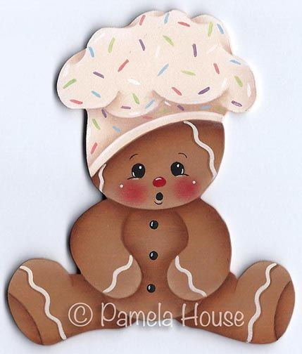 The Decorative Painting Store: Baby Ginger Chef Pattern, Pamela House