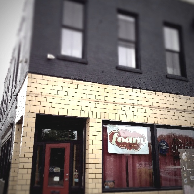 Foam Coffee & Beer St. Louis, MO corner of Cherokee and S. Jefferson.