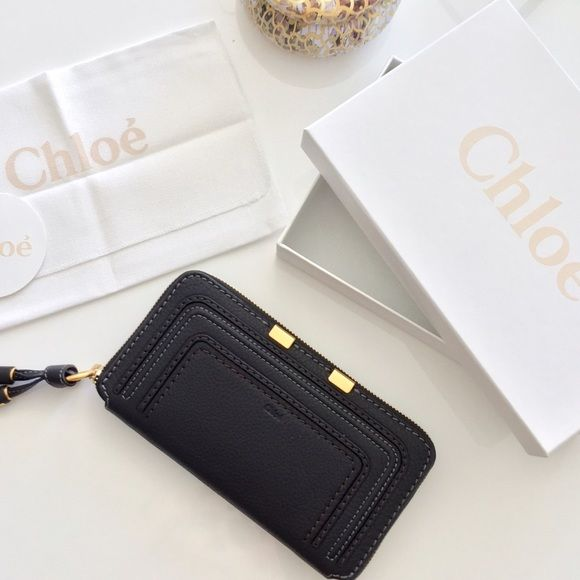 "Chloe Wallet in Black ""Marcie"" Long Zip-Around Wallet. Brand new. comes in original Chloé box as well as Nordstrom box along with all tags. Chloe Bags Wallets"