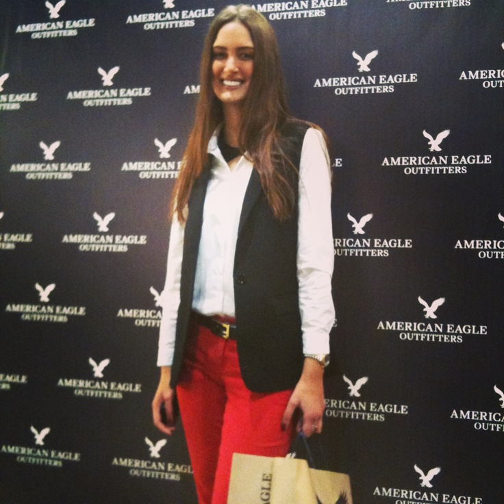 Moroccan Model Amina Allam at the opening Of the New store @aeo American Eagle Outfitters at Anfaplace #casablanca www.lookbyaminaallam.com