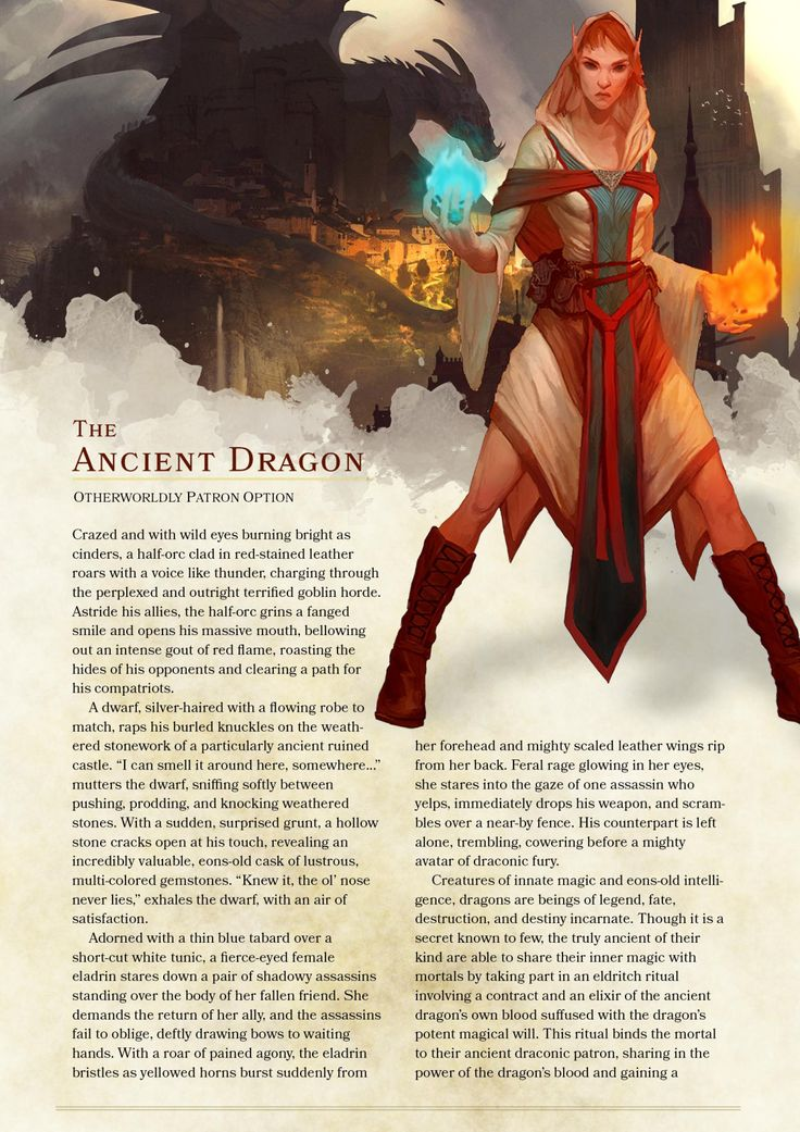 DnD 5e Homebrew — Ancient Dragon Warlock Patronb y...