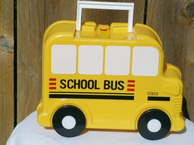 Vintage Plastic Lunch Box School Bus made by A.K. DAS 1980 by LovedOnceMoreVintage on Etsy