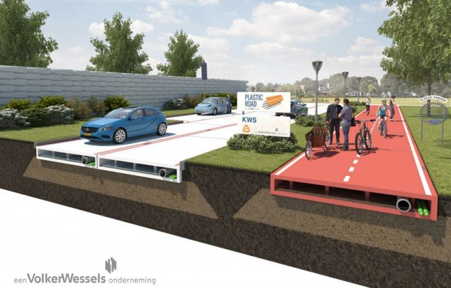 This Company Wants To Test Plastic Roads That Can Be Made In a Factory [Road-Paver Concept Lays Asphalt Underneath Traffic: http://futuristicnews.com/pave-roads-beneath-traffic-no-jams-created/ Solar Roadways: http://futuristicnews.com/solar-roadways/ The Futuristic Energy Efficient Highways Project: http://futuristicnews.com/the-futuristic-energy-efficient-highways-project/]