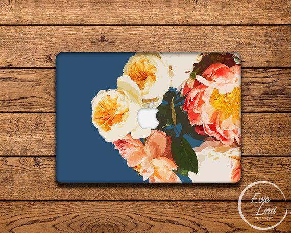 MacBook Vinyl Decal Floral - MacBook Air Sticker - Floral MacBook Skin - MacBook…