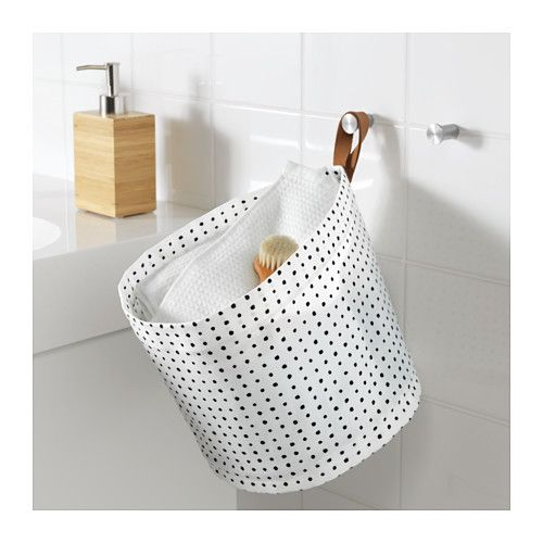 PLUMSA Storage basket IKEA The plastic coating on the inside protects against moisture.