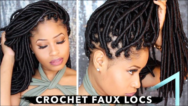 How To ➟ CROCHET FAUX LOCS  (NO cornrows, NO wrapping, free-parting!) [Video] - https://blackhairinformation.com/video-gallery/%e2%9e%9f-crochet-faux-locs-%f0%9f%94%a5-no-cornrows-no-wrapping-free-parting-video/