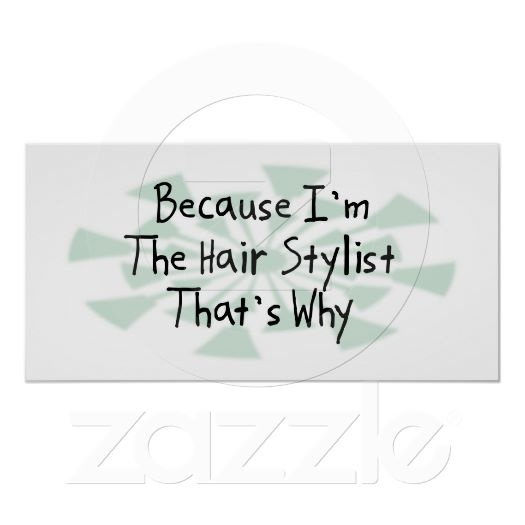 Because I'm the Hair Stylist Posters