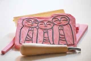 Praying Monks - Stamp by JustInspira