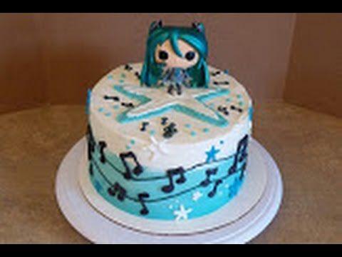 Hatsune Miku Anime Cake. Cake Decorating.