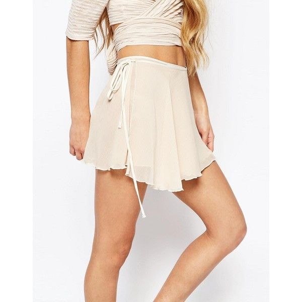 Free People Movement Ballerina Wrap Skirt in Crinkle Chiffon ($27) ❤ liked on Polyvore featuring skirts, high-waist skirt, ballet wrap skirt, tall skirts, wrap skirt and pink ballerina skirt