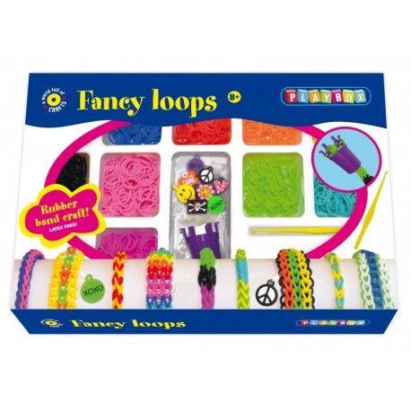 Gioco creativo giocattolo set kit bambine braccialetti 600 elastici fancy loops