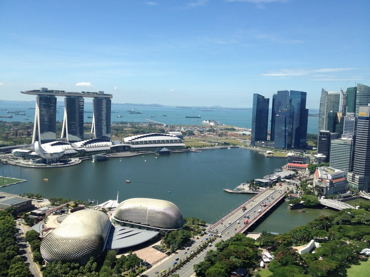 View of Marina Bay from Swissotel - The Stamford, Singapore!