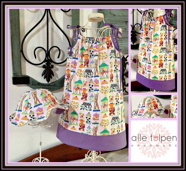 Handmade by Alle Tulpen Handmade Fabric Candy Shop Fabric A gorgeous summer pillow style dress.