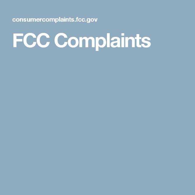 FCC Complaints