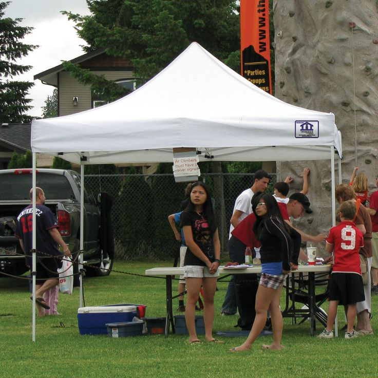 Impact Canopy 10 x 10 ft. EZ Pop Up Canopy with Weight Bags and Roller Bag - White - EVENTO10-WB4KIT-WT