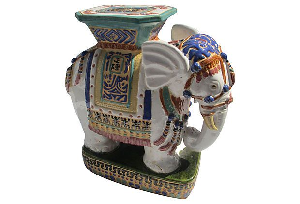 Inspirational White Elephant Garden Stool