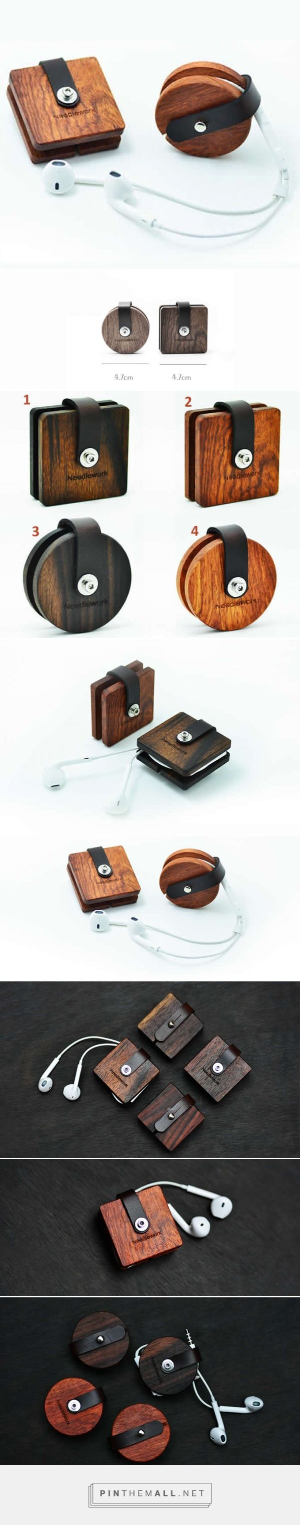 Wooden Headphone Wrap Winder Cable Cord Organizer - FeelGift - created via https://pinthemall.net