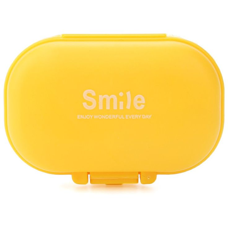 High Quality Smile Design 4 Slots Portable Mini Cute Medical Pill Case Sealed…