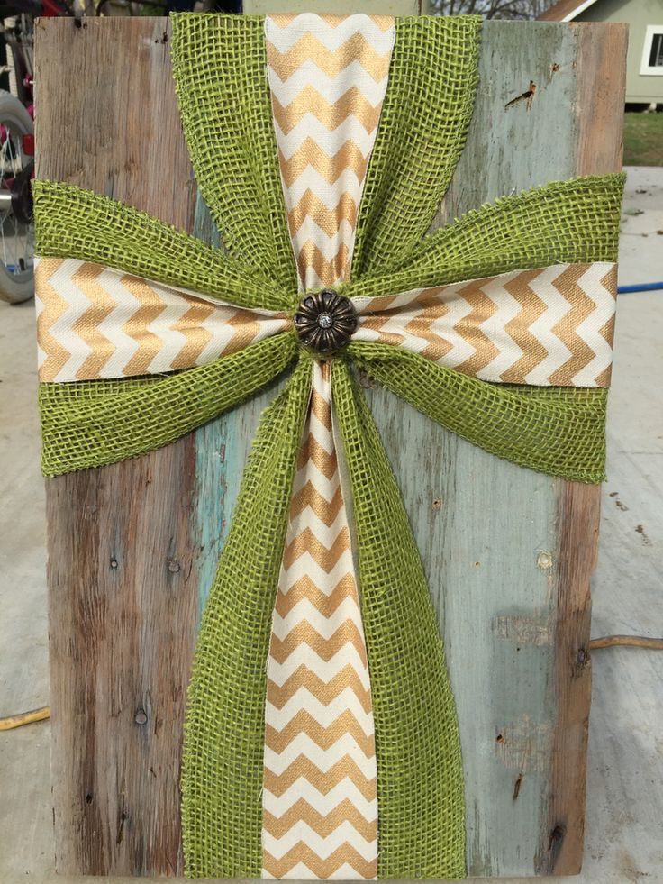 25 best ideas about cross crafts on pinterest bible for Burlap ribbon craft ideas