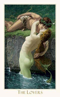 The lovers, tarot. Card of union and choice/selection. Mergers of commentary differences. Partnership.