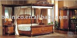 Luxury wooden clascial bedroom set, MOQ:1SET(B10115)