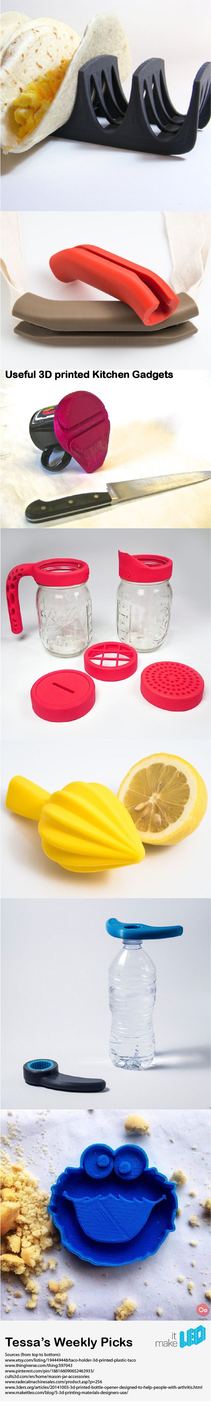 Useful 3D Printed Kitchen Gadgets - Tessa's Weekly Picks - Make it LEO
