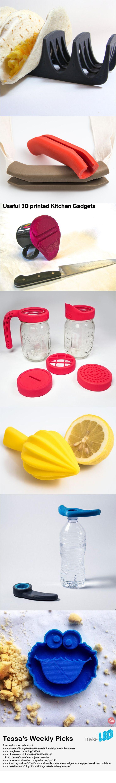 3D printed, designed kitched gadgets