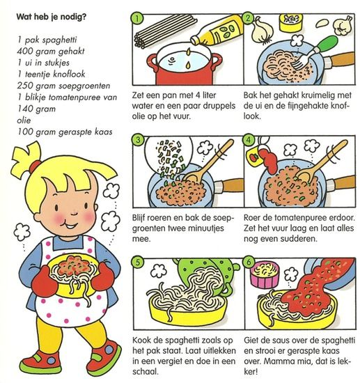 Koken met kleuters! | spaghetti