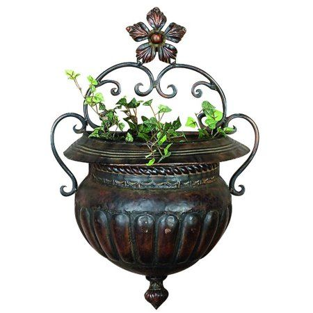 Decmode Metal Wall Planter, Multi Color