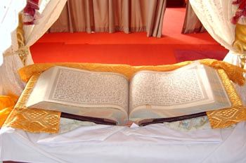 Sikhism preaches a message of devotion and remembrance of God at all times, truthful living, equality of mankind, social justice and denounces superstitions and blind rituals. Sikhism is open to all through the teachings of its 10 Gurus enshrined in the Sikh Holy Book and Living Guru, Sri Guru Granth Sahib.