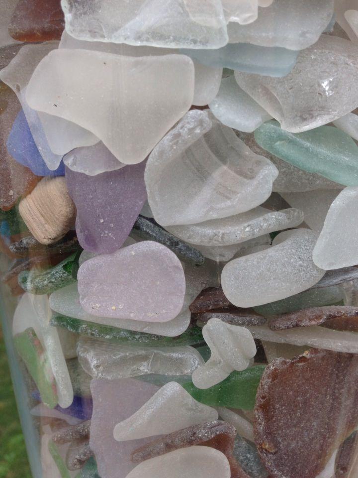 Maine sea glass on Sturdivant Island in Casco Bay