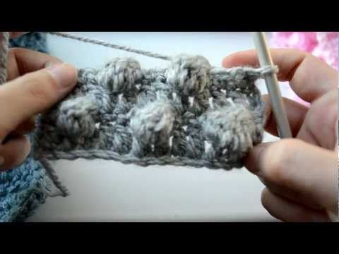 How to crochet the bobble stitch - Part 4 of 5 - Crochet Lessons - YouTube