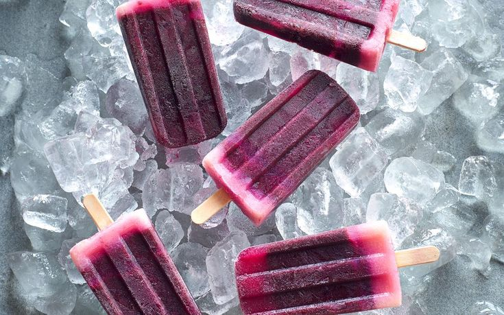 These blueberry ice blocks not only taste amazing but are also really good for you; the vitamin C and antioxidants from the blueberries and lemon juice will help keep your immune system charging.