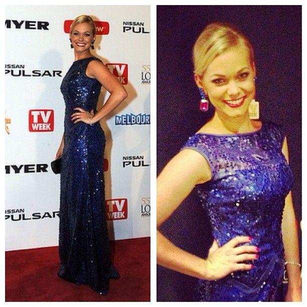 The beautiful @pip_russell Totally Wild TV Presenter wearing #lambertdesigns at the #logies last night. Just divine Pip!