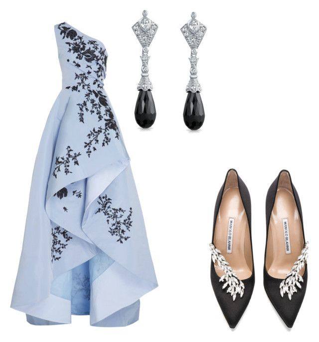 """""""untitled # 5"""" by tripti917 on Polyvore featuring Monique Lhuillier, Manolo Blahnik and Bling Jewelry"""