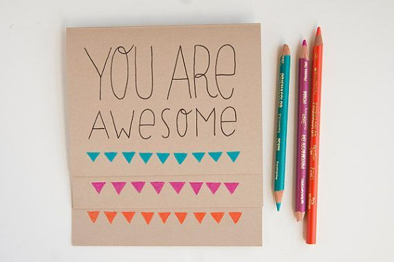 Diy Thank You Cards Diy Pinterest You Are Awesome